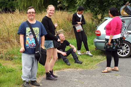 SOMA members on a research trip to Radical Roots AGM near Belper, Derbyshire.